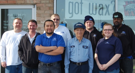 Academy Ford Parts Manager Mike Robinson, Ford's 2011 Employee Excellence Award winner, and his team that made it possible
