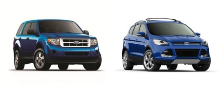 2012 Ford Escape Comparison to the 2013 Ford Escape