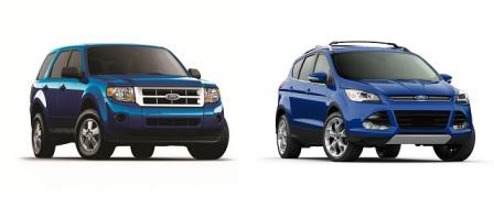 2012 Ford Escape Comparison to the 2013 Ford Escape