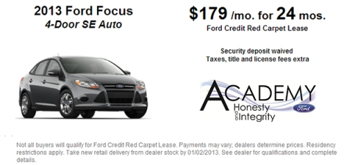 Current Leasing Offer